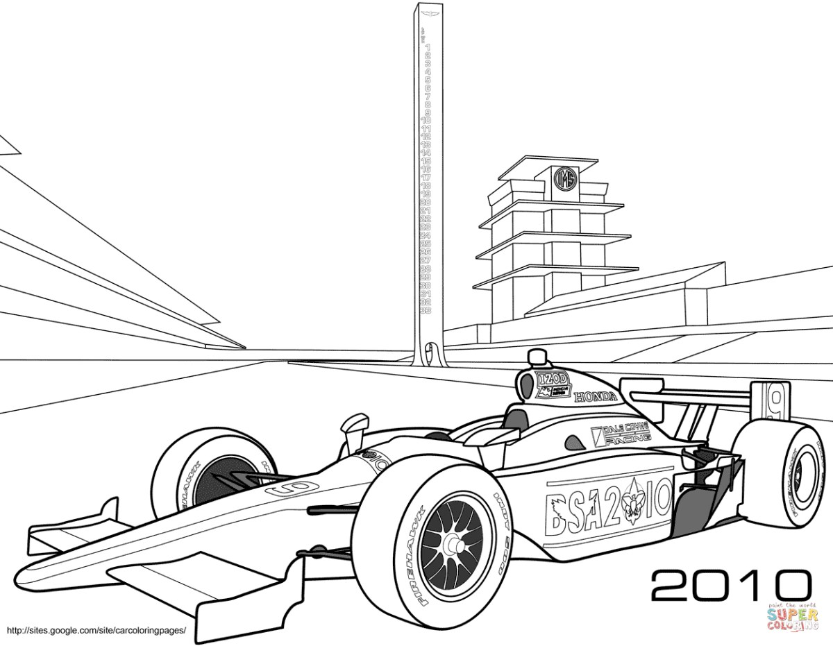 Car Printable Coloring Pages Coloring Pages Race Cars Race Car Coloring Page  Free Printable - birijus.com
