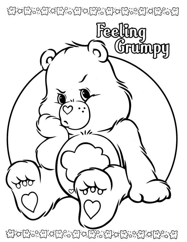 Care Bear Coloring Pages Care Bear Coloring Pages Bitslice