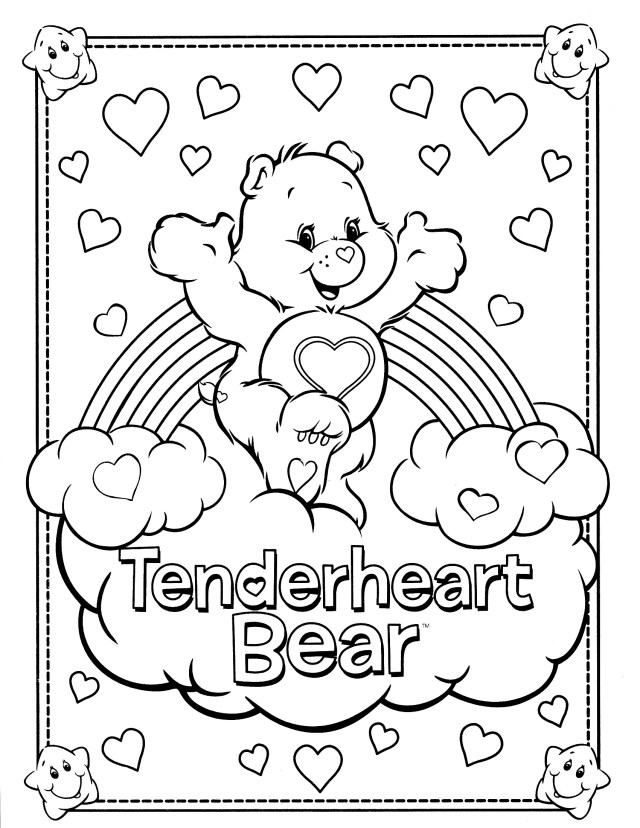 Care Bear Coloring Pages Care Bear Coloring Pages Printable Free Coloring Books Unique 15