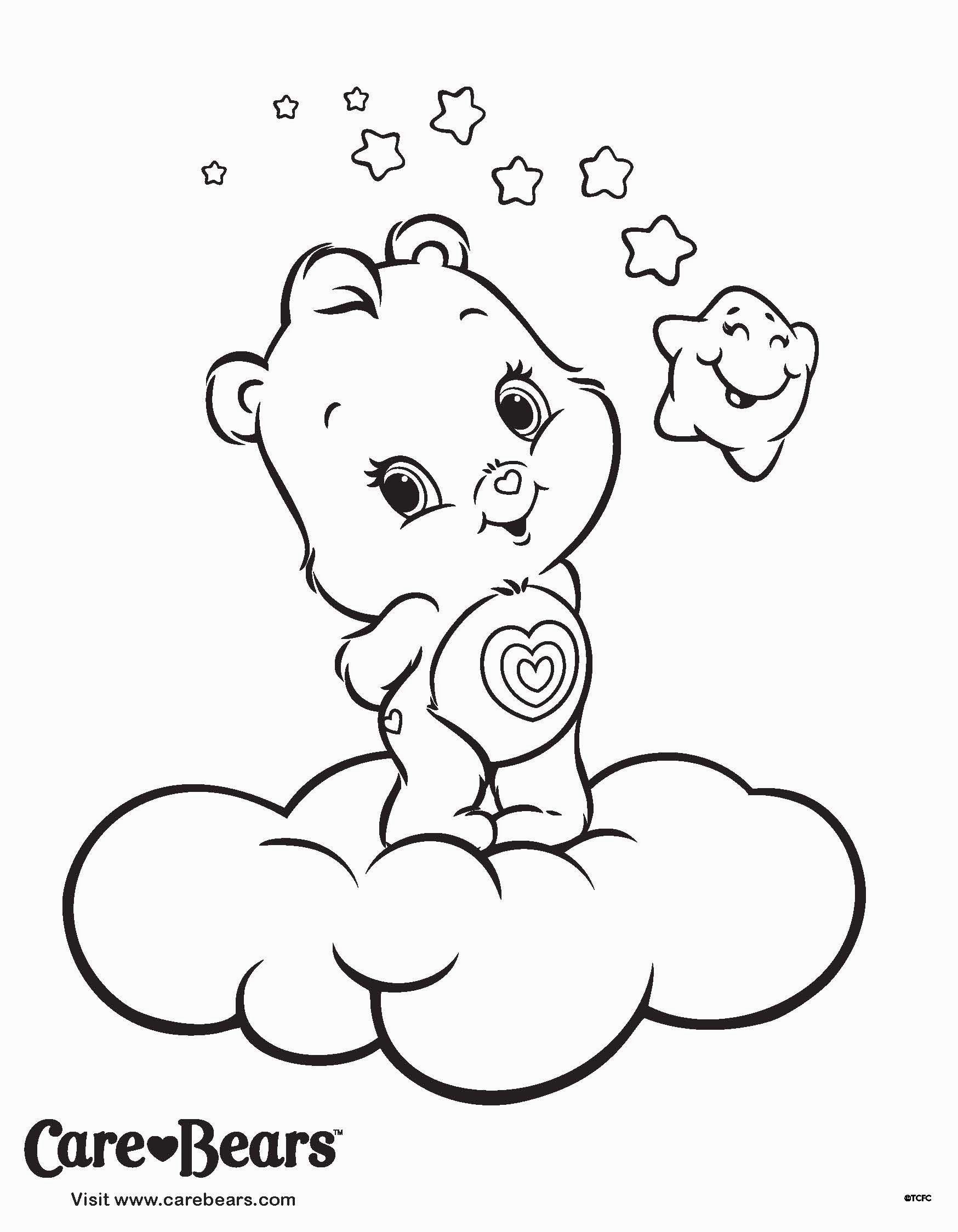Care Bear Coloring Pages Vintage Care Bear Coloring Book With