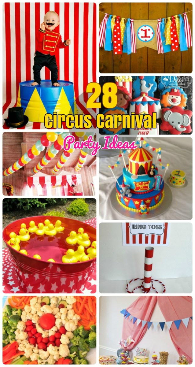 Enjoyable Carnival Birthday Cake 28 Circus Carnival Themed Birthday Party Personalised Birthday Cards Paralily Jamesorg