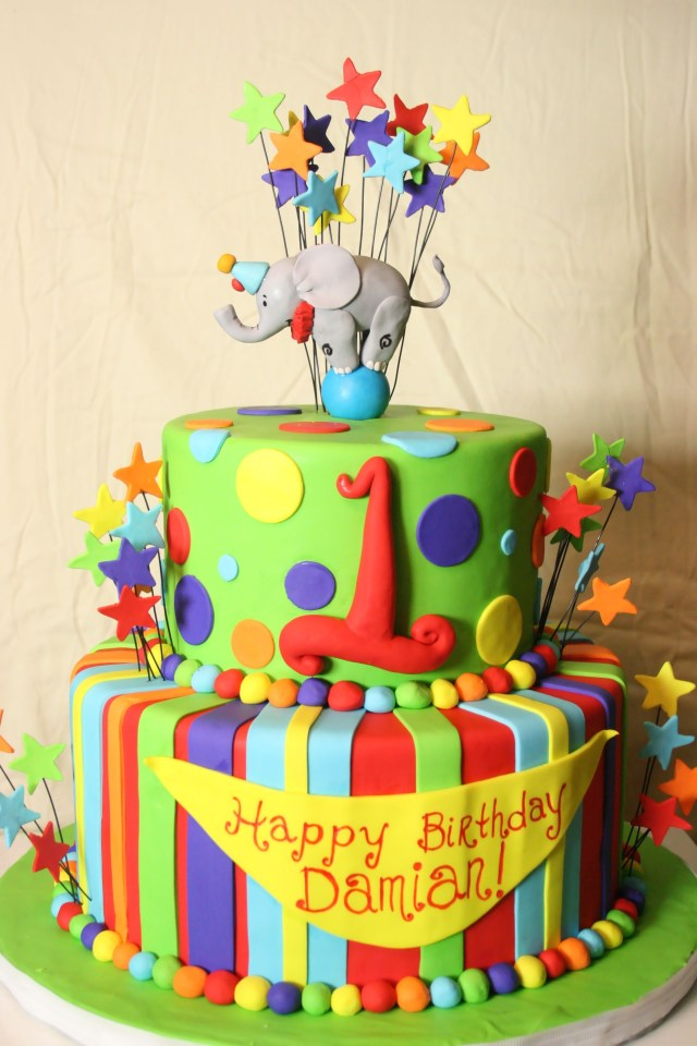 Carnival Birthday Cake Circus Birthday Cake I Like This One But Instead Put Derek And 1
