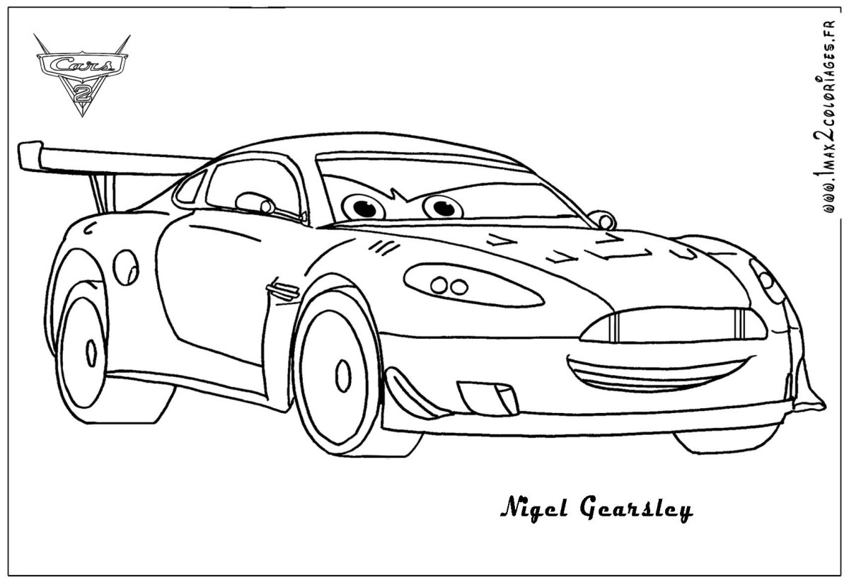 Cars 2 Printable Coloring Pages Grem cars 2 Colouring - Cars Coloring Pages | 827x1200