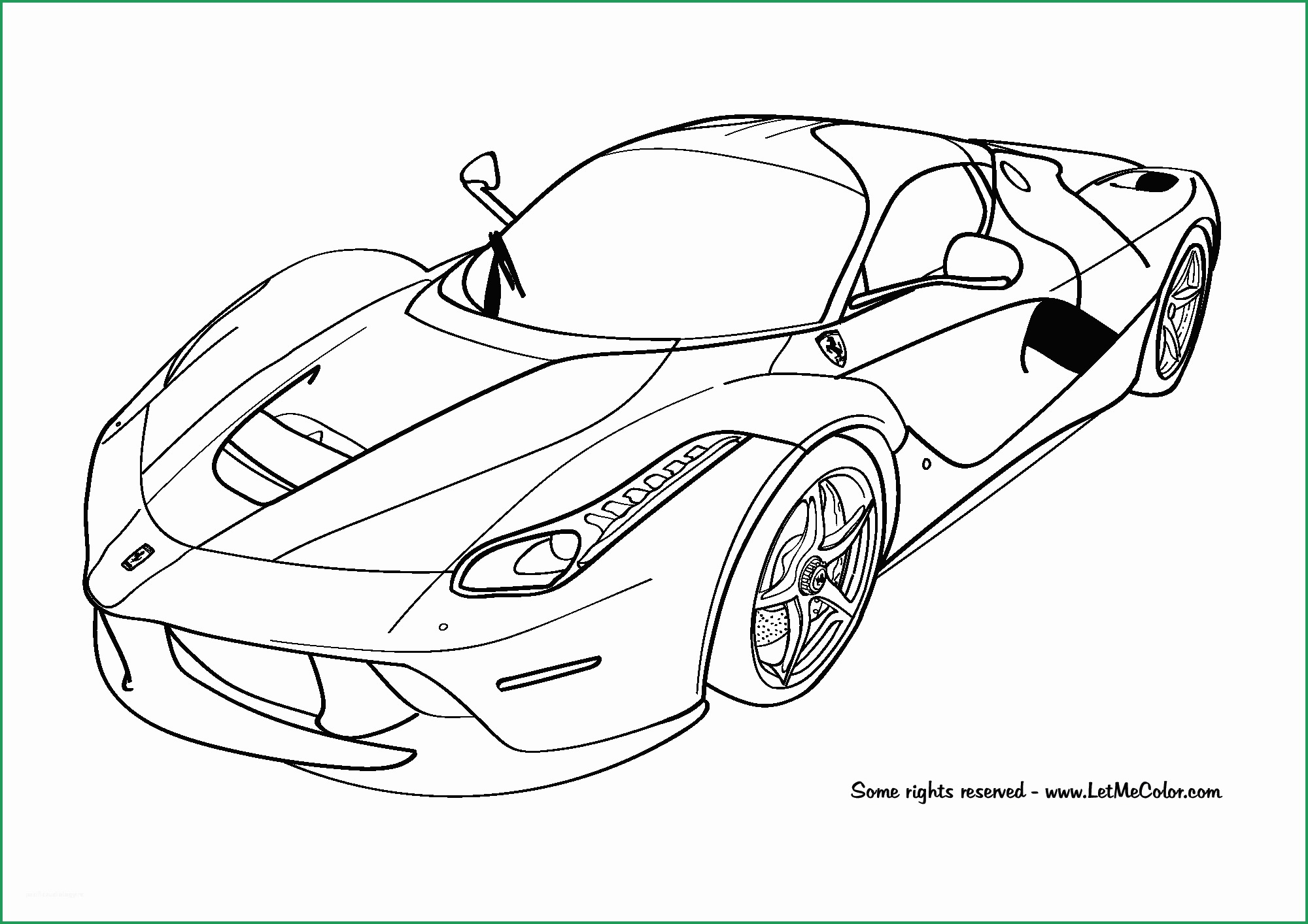 Cool Car Coloring Pages Azspringtrainingexperience