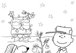 Charlie Brown Christmas Coloring Pages Charlie Brown Christmas Coloring Page Free Printable Coloring Pages