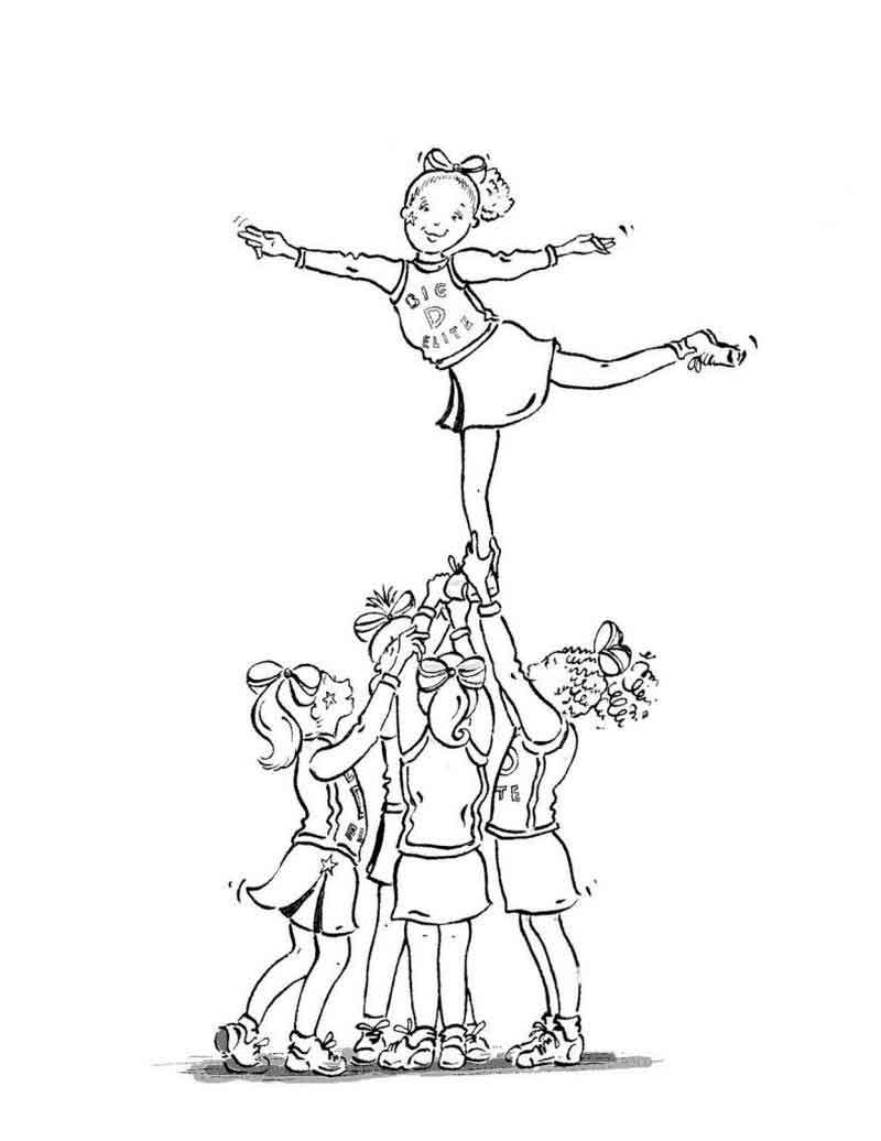 Inspiration picture of cheerleading coloring pages birijus com