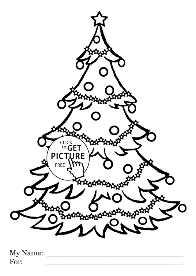 Christmas Tree Coloring Page Free Christmas Tree Coloring Pages Free Printable At Getdrawings