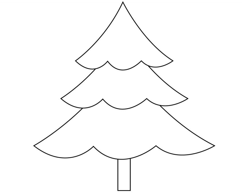 Christmas Tree Coloring Page Free Easy Christmas Tree Coloring Pages Free Coloring Pages Pinterest