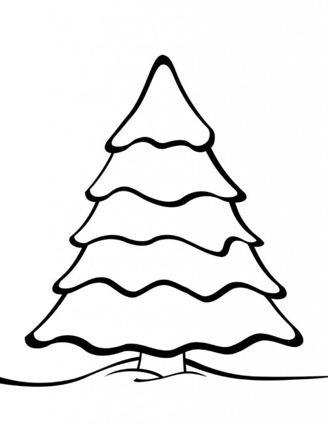 Christmas Tree Coloring Page Free Elegant Large Christmas Tree Coloring Page Doiteasy