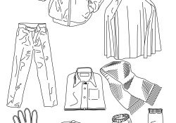 Clothes Coloring Pages Various Clothes Coloring Page Free Printable Coloring Pages