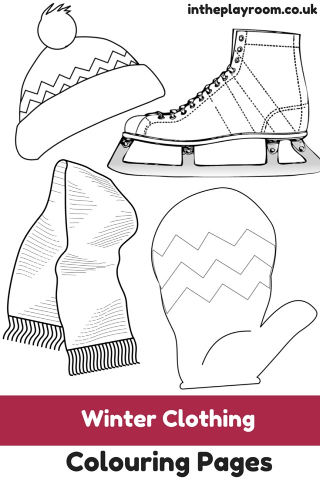 Clothes Coloring Pages Winter Clothing Colouring Pages In The Playroom