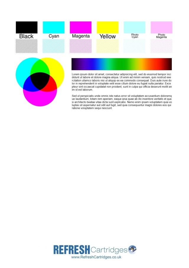 Color Printer Test Page Colour Inkjet Printer Test Page