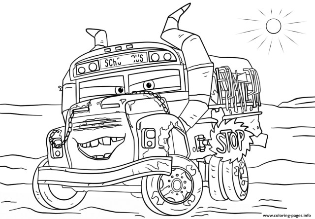 Coloring Pages Cars Miss Fritter From Cars 3 Disney Coloring Pages Printable