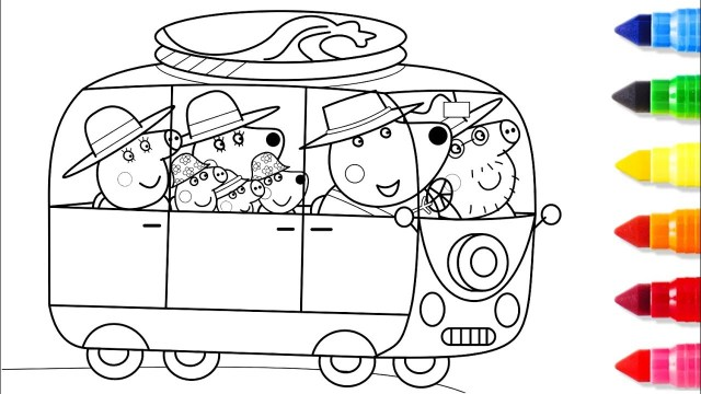 Coloring Pages Cars Peppa Pig Driving A Car Coloring Pages Peppa Coloring Book