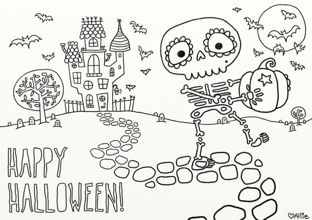 Coloring Pages For Halloween 9 Fun Free Printable Halloween Coloring Pages