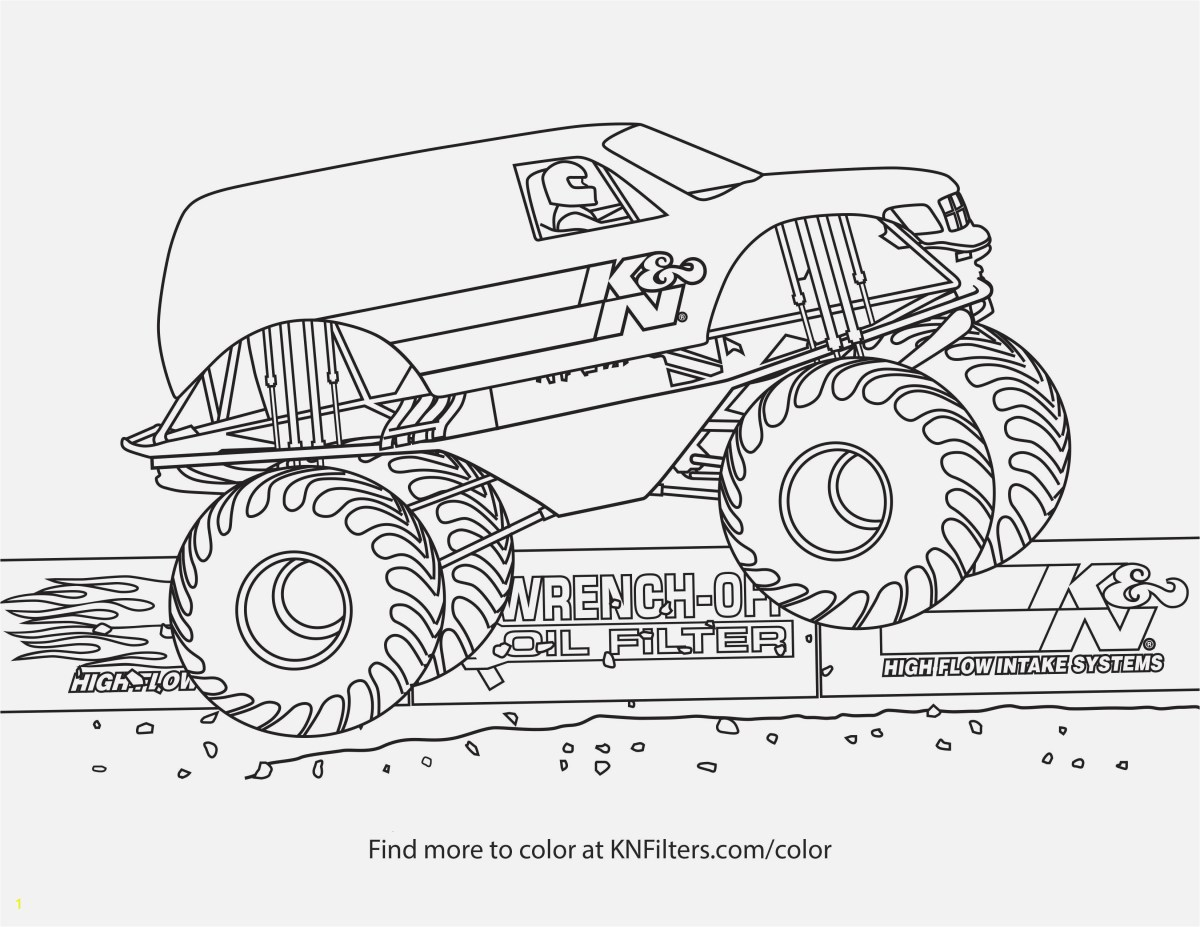 Monster Truck Crushing a Car Coloring Page | crayola.com | 927x1200