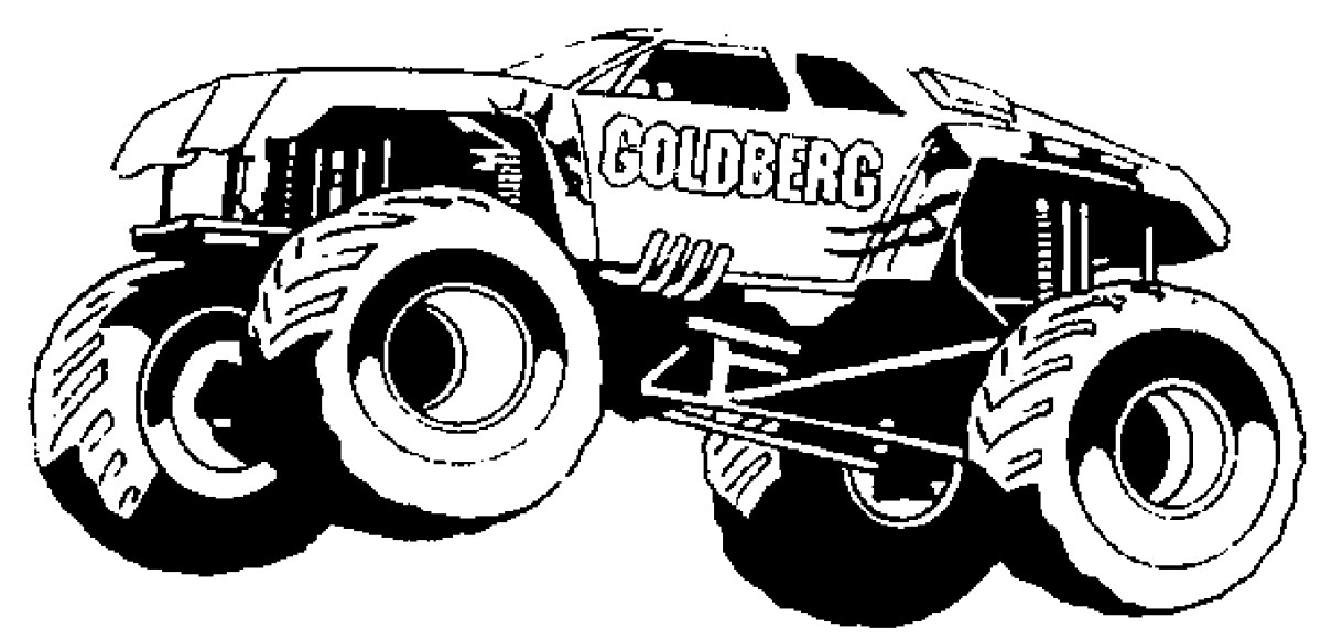 Coloring Pages Monster Trucks Monster Truck 49 Transportation Printable Coloring Pages Birijus Com