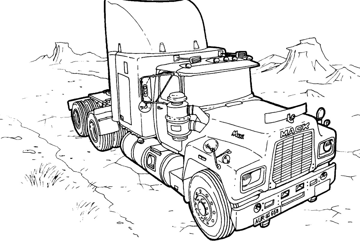 Monster Truck Transportation Printable Coloring Of Trucks Drawing  Understanding Math Printable Coloring Pages Of ... | 813x1200
