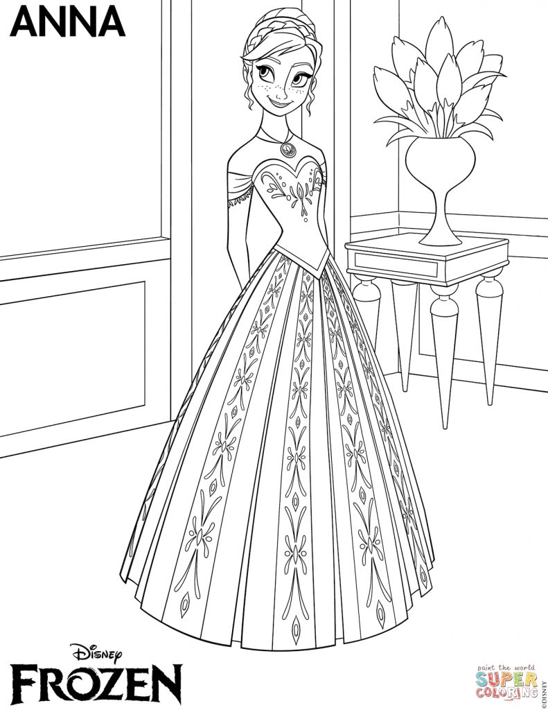 Creative Image Of Coloring Pages Elsa Birijusrhbirijus: Free Coloring Pages Of Elsa And Anna At Baymontmadison.com