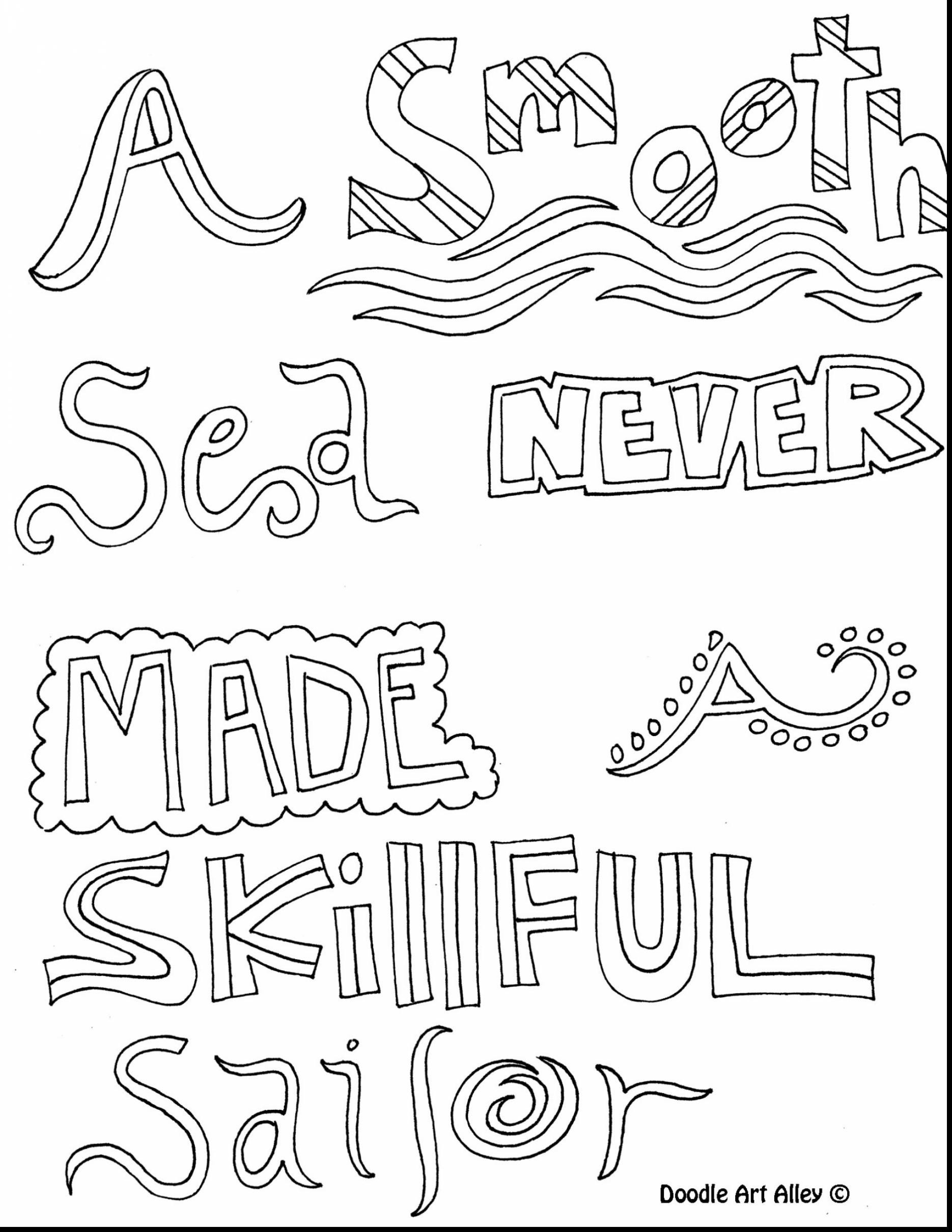 Doodle Art Alley All Quotes Coloring Pages