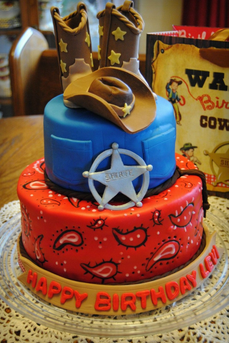 Terrific Cowboy Birthday Cake Pin Diana Del Bosque On Cowboy Cakes Funny Birthday Cards Online Aboleapandamsfinfo