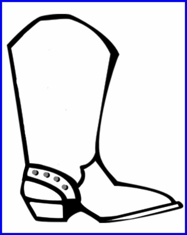 Cowboy Boot Coloring Page Cowboy Boot Coloring Page 14 Within Cowboy Boot Coloring Page
