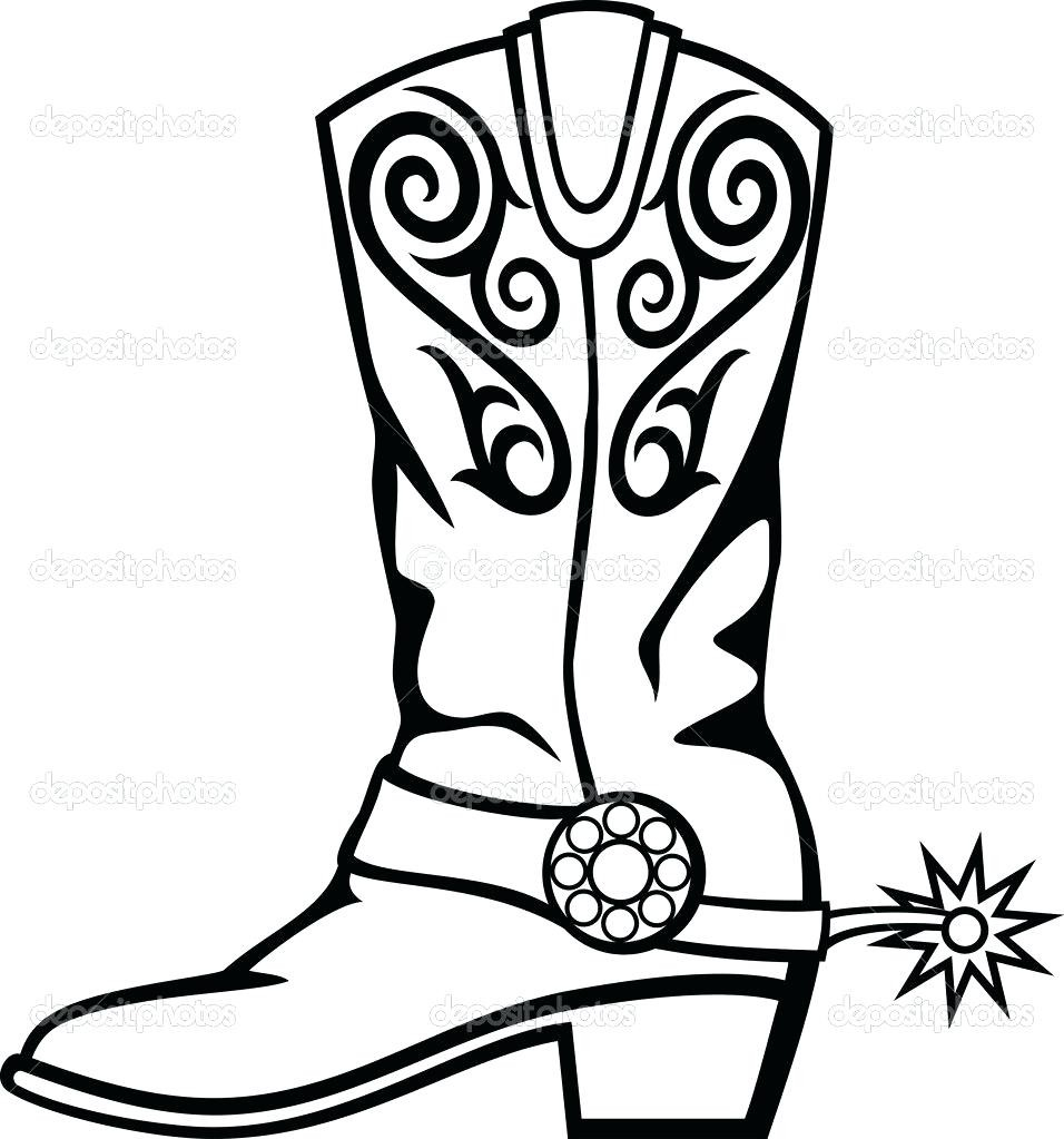 photo regarding Cowboy Boot Printable named Cowboy Boot Coloring Webpage Clean Of Cowboy Boots Coloring