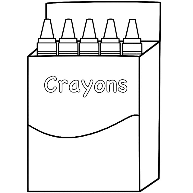 Coloring Pages Of Crayon Box Coloring Pages For Kids