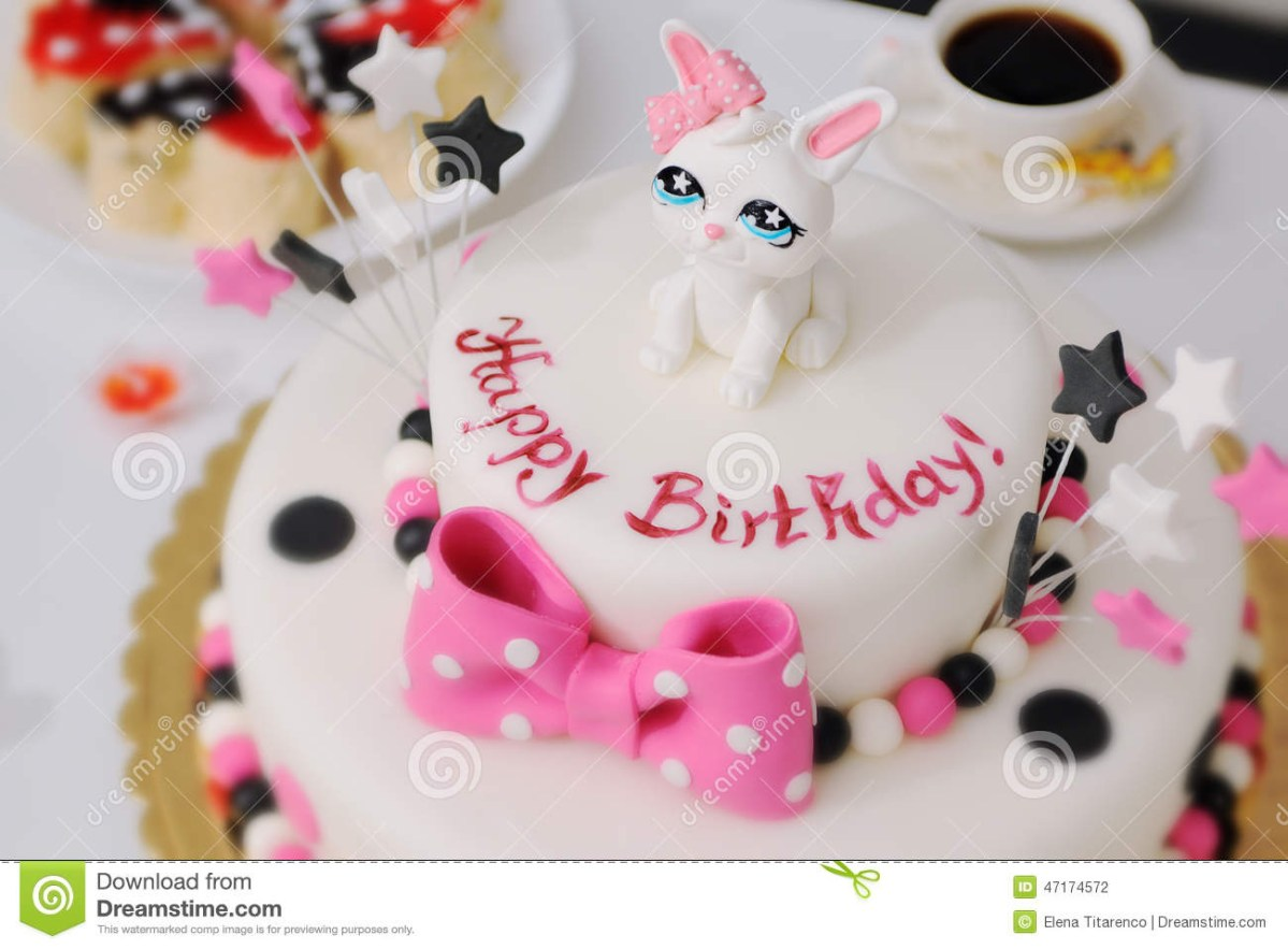 Strange Cute Birthday Cakes For Girl Birthday Cake Stock Images Download Personalised Birthday Cards Beptaeletsinfo