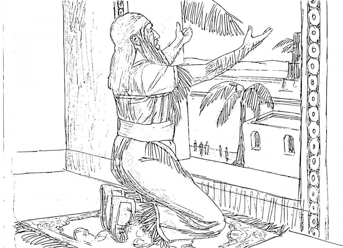 Daniel And The Lions Den Coloring Page Coloring Pages For The Story Of Daniel In Lions Den Colouring Free
