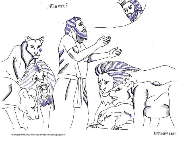 Daniel And The Lions Den Coloring Page Daniel In The Lions Den Coloring Page New Bible Pages Free