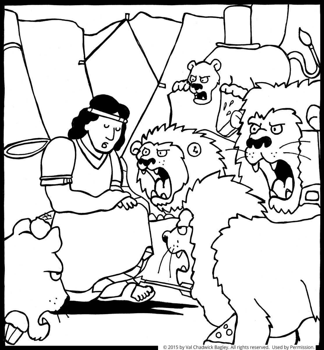 Daniel And The Lions Den Coloring Page Daniel In The Lions Den