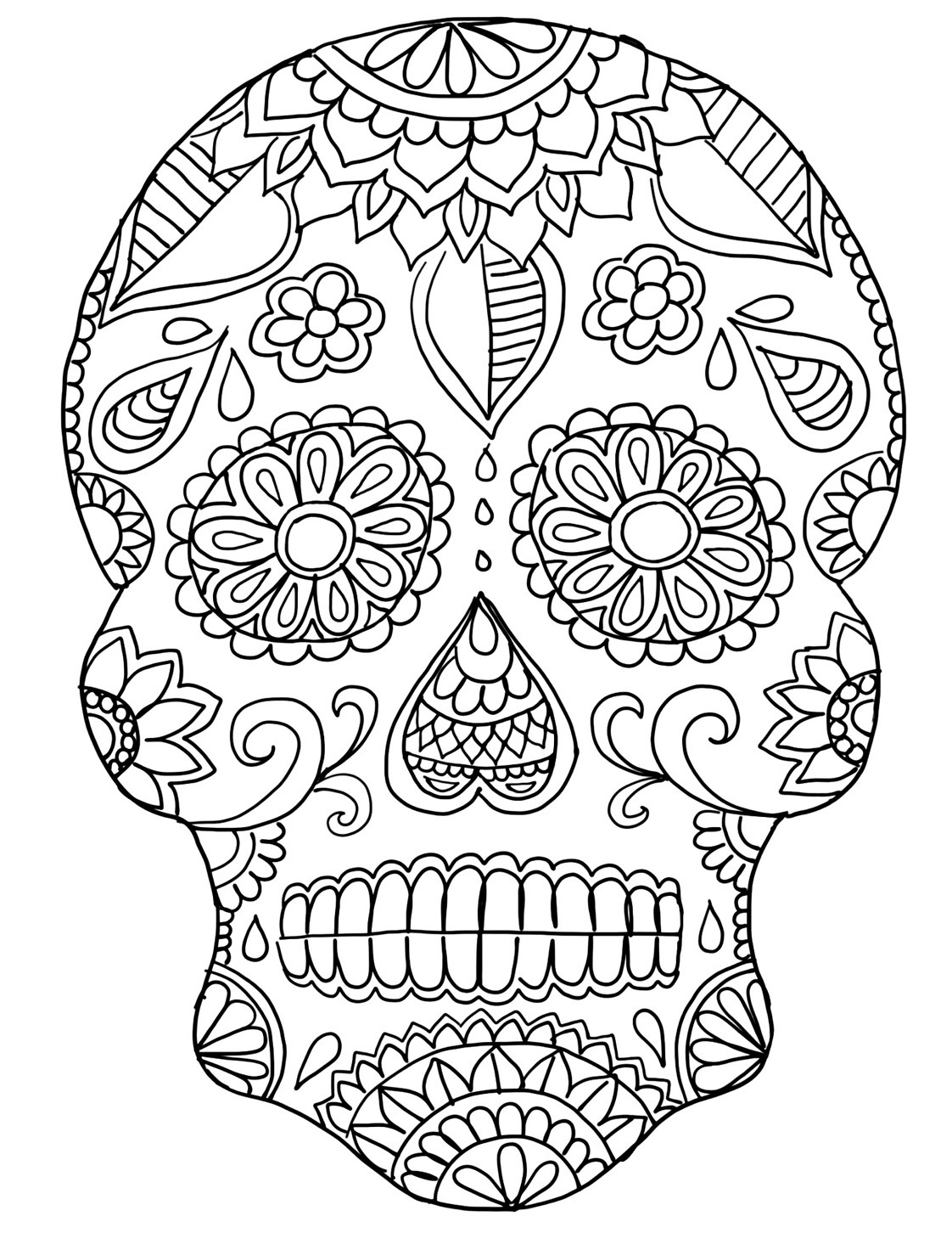 - Day Of The Dead Coloring Pages Day Of The Dead Skull Coloring