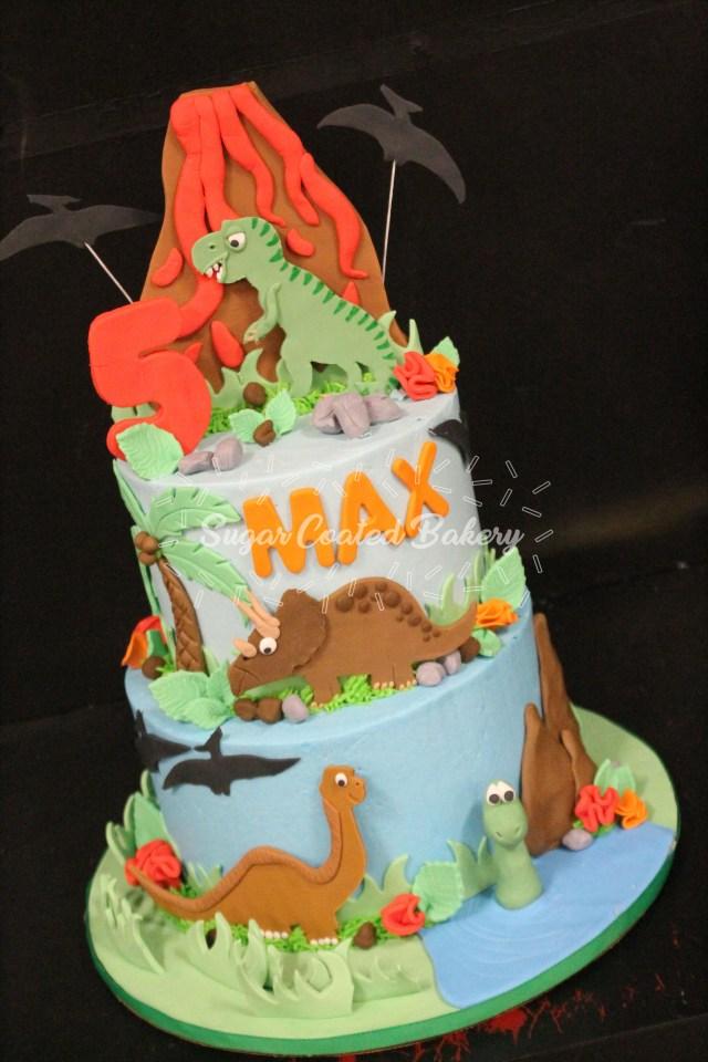 Dinosaur Birthday Cake Sugar Coated Bakery Lowell Baking Everyday Better