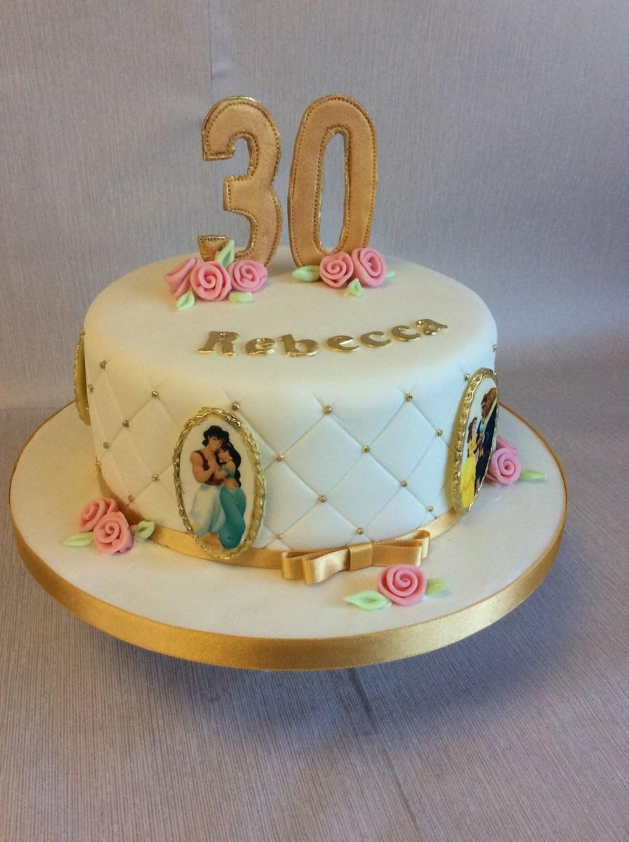 Wondrous Disney Birthday Cakes Disney Princess Theme 30Th Birthday Cake Funny Birthday Cards Online Alyptdamsfinfo
