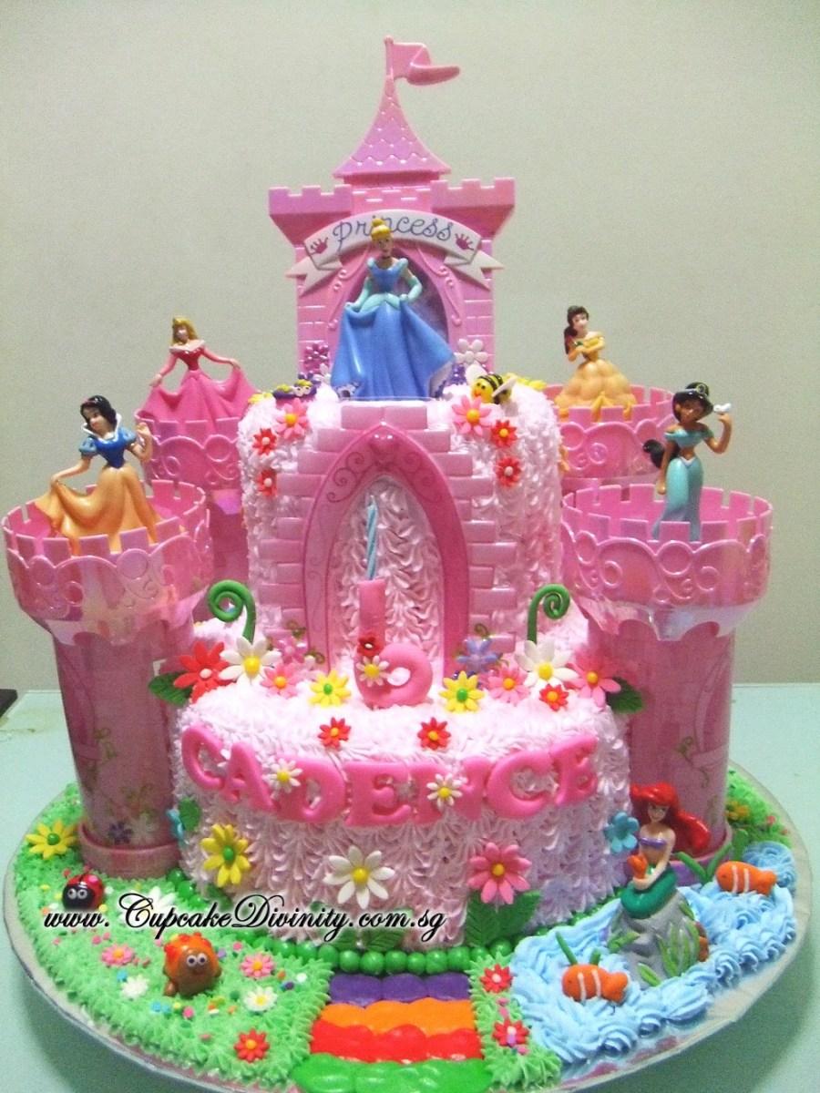 Pleasant Disney Princess Birthday Cakes Cupcake Divinity Maxi 2 Tier Disney Funny Birthday Cards Online Alyptdamsfinfo