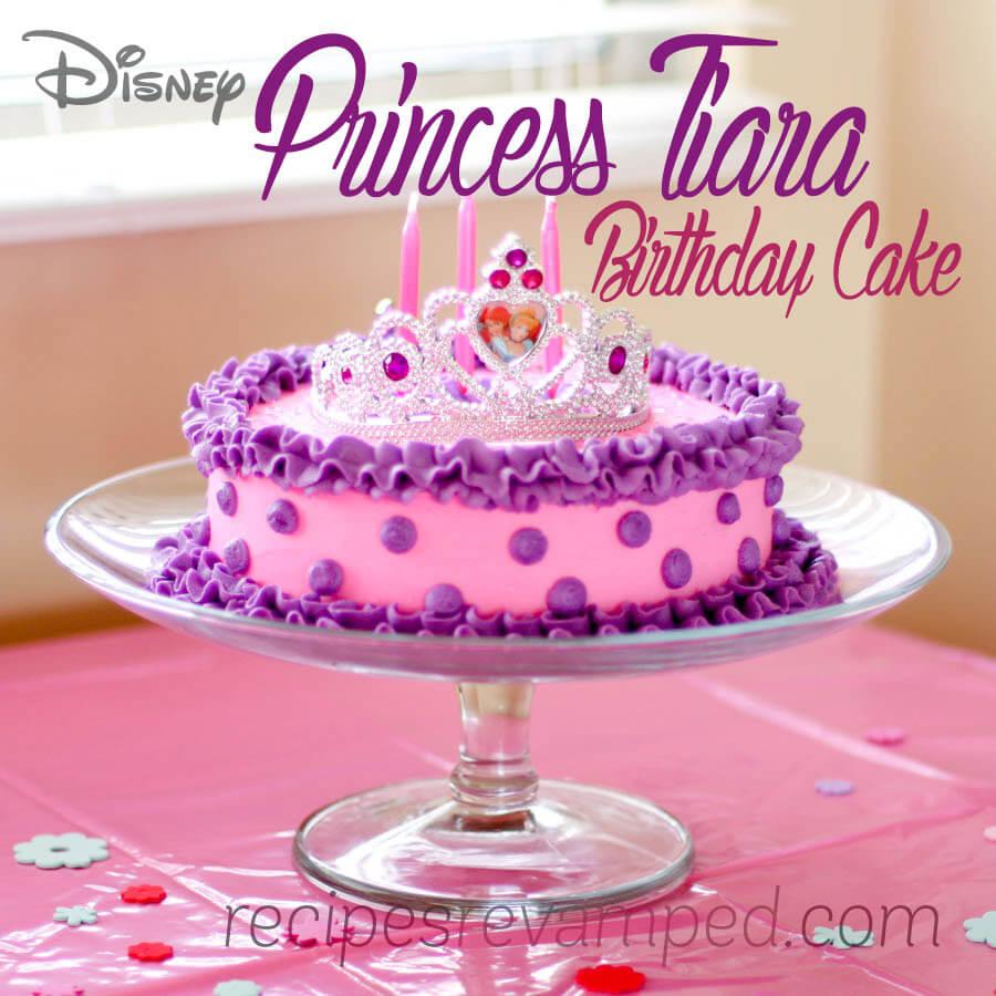 Groovy Disney Princess Birthday Cakes Disney Princess Tiara Birthday Cake Personalised Birthday Cards Petedlily Jamesorg