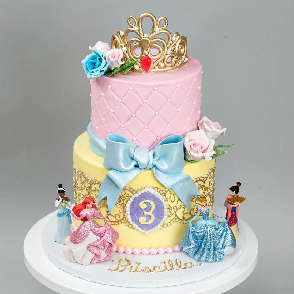 Marvelous Disney Princess Birthday Cakes Kids Birthday Blue Lace Cakes Personalised Birthday Cards Bromeletsinfo