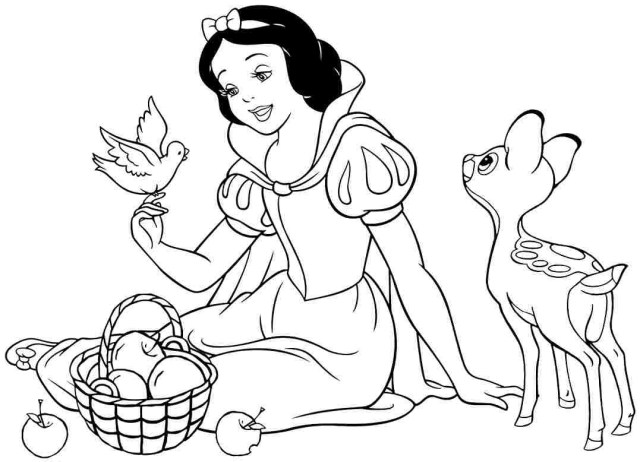 All Disney Princess Coloring Pages Free Large Images – Mcoloring | 462x640