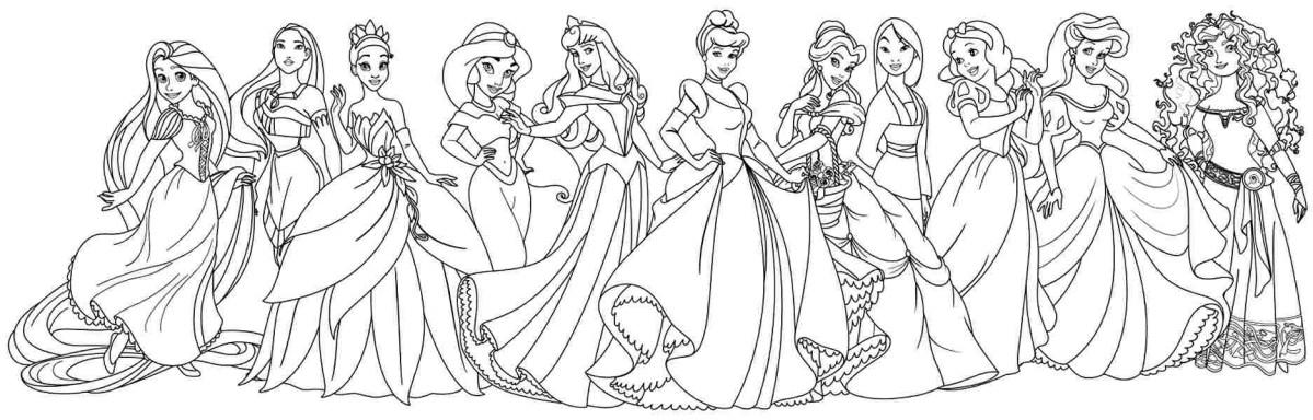 Disney Princess Coloring Page Coloring Page Phenomenal Disney Princess Coloring Pages