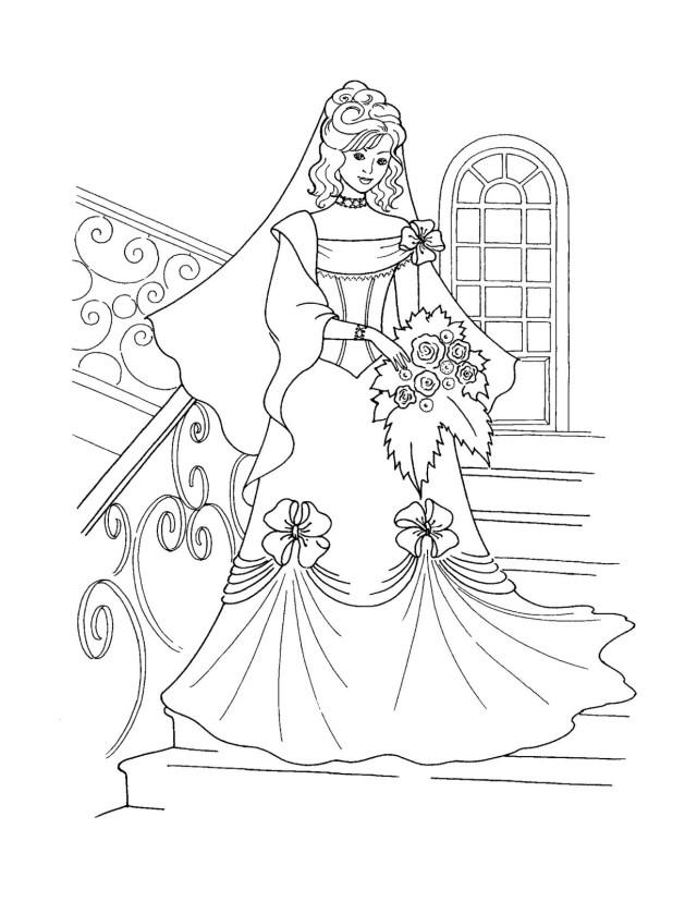 Disney Princess Coloring Page Free Printable Disney Princess Coloring Pages For Kids