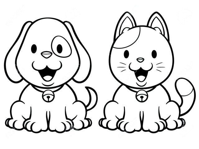 Dog And Cat Coloring Pages Coloring Pages Of Cats And Dogs Glandigoart