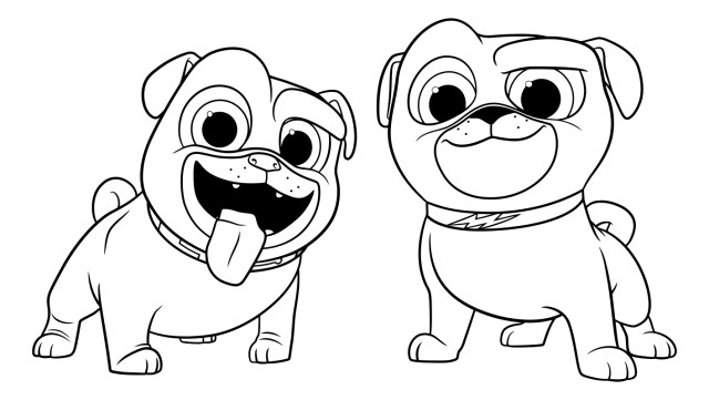 Dog And Cat Coloring Pages Popular Coloring Pages Of Dogs And Cats Puppy Dog Pals To Download