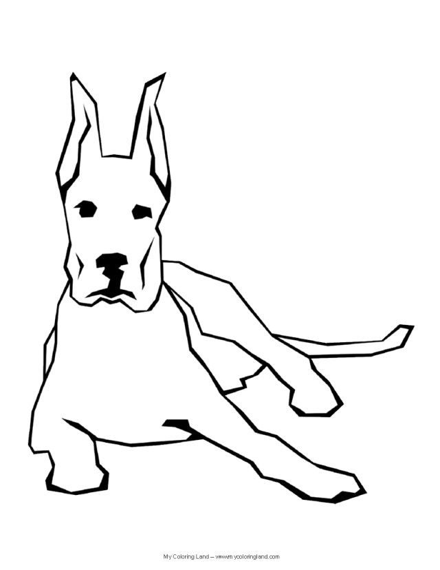 Dog Coloring Page Dog My Coloring Land