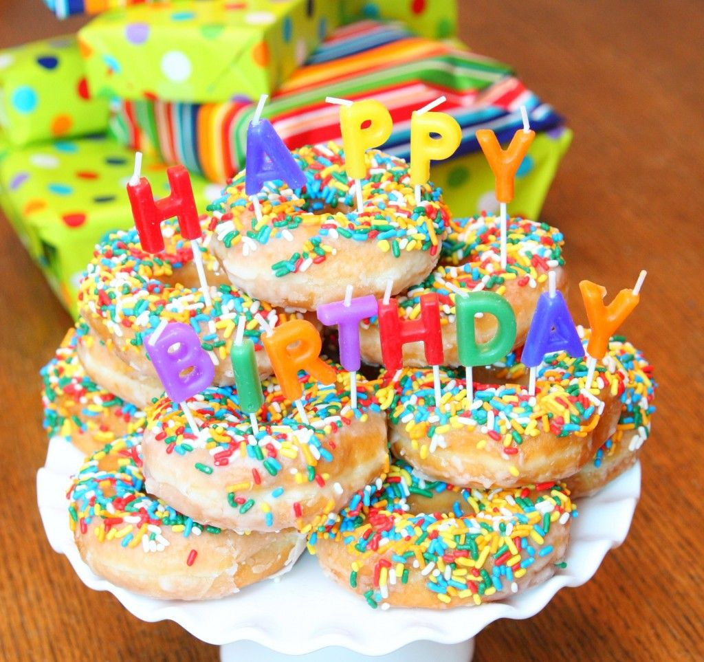 Phenomenal Donut Birthday Cake Donut Birthday Cake Party Ideas Pinterest Funny Birthday Cards Online Elaedamsfinfo