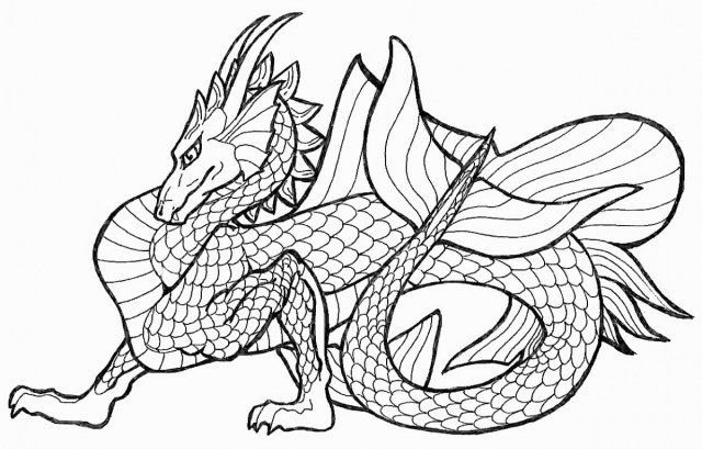 Dragon Coloring Pages For Adults Dragon Coloring Pages Adults At Getdrawings Free For Personal