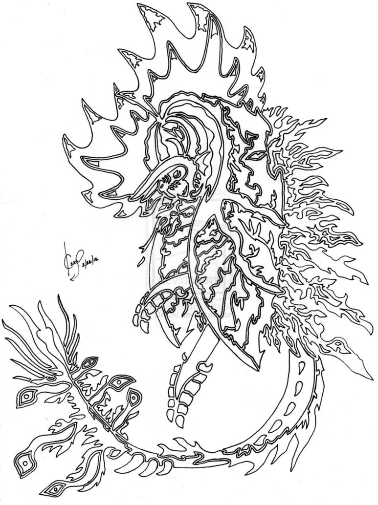 Dragon Coloring Book Pages – haramiran | 1034x773