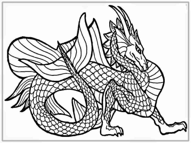 25+ Marvelous Photo of Dragon Coloring Pages For Adults ...