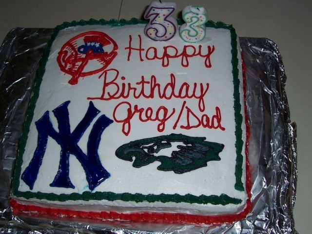 Eagles Birthday Cake Yankees And Eagles Birthday Cake Cakecentral