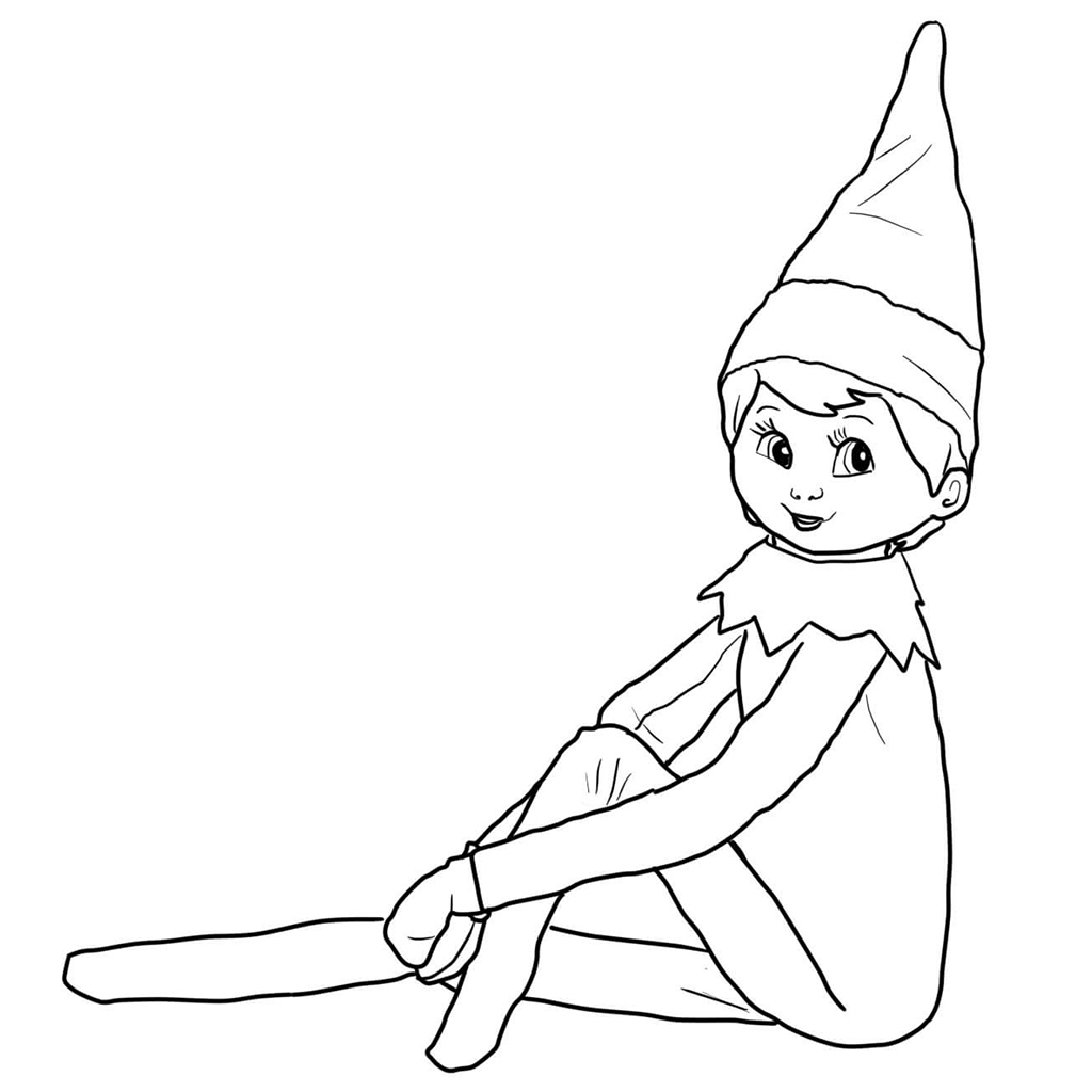 Elf On The Shelf Coloring Pages Elf On Shelf Coloring Pages